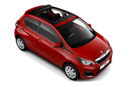 Cat A3 – Peugeot 108 |  1.0 Auto – Open top